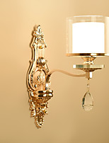 40 E14 Crystal Electroplate Feature for Crystal,Ambient Light Wall Sconces Wall Light