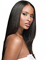 Women Human Hair Lace Wig Human Hair Lace Front 130% Density Straight Wig Medium Brown Dark Brown Black Dark Black Long