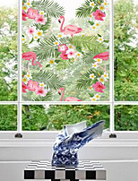 Window Stickers Window Decals Style Swan's Trumpet Rattan PVC Window Stickers