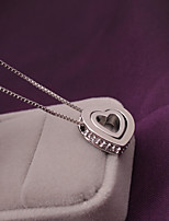 Women's Pendant Necklaces Heart Rhinestone Alloy Love Jewelry For Wedding Party