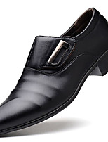 Men's Shoes Leatherette Fall Winter Formal Shoes Loafers & Slip-Ons Rivet For Office & Career Party & Evening Brown Black