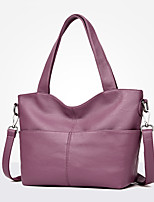 Women Bags All Seasons PU Tote Zipper for Casual Office & Career Blue Black Purple Wine