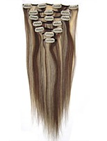 20inch Silk straight 7 Pieces 70g Clip in Premium Remy Human Hair Extensions Clip in Hair
