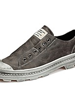 Men's Shoes PU Fall Winter Comfort Loafers & Slip-Ons For Casual Gray Black