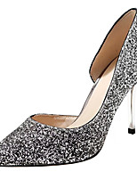 Women's Shoes PU Spring Summer D'Orsay & Two-Piece Basic Pump Heels Stiletto Heel Cone Heel Pointed Toe Closed Toe Sequin For Wedding