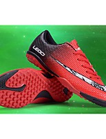 Boys' Shoes PU Spring Fall Comfort Athletic Shoes Soccer Shoes Lace-up For Athletic Casual Black/Blue Black/Red Orange
