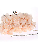 Women Bags All Seasons Polyester Evening Bag Flower(s) for Wedding Event/Party White Blushing Pink Almond Fuchsia