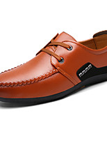 Men's Shoes Synthetic Microfiber PU Spring Fall Formal Shoes Comfort Oxfords For Office & Career Party & Evening Burgundy Yellow Black
