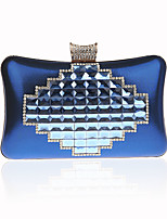 Women Bags All Seasons PU Evening Bag Crystal Detailing for Wedding Event/Party Gold Black Silver Purple Royal Blue