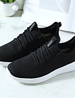 Women's Shoes Knit Tulle Spring Fall Comfort Light Soles Sneakers Flat Heel Round Toe Lace-up For Casual Outdoor Blushing Pink Gray Dark