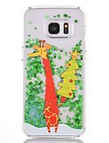 per la copertura di caso che fluisce liquido trasparente modello copertura posteriore caso natale pc duro per Samsung Galaxy s7 bordo s7