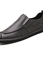 Men's Shoes PU Spring Fall Comfort Light Soles Loafers & Slip-Ons For Casual Office & Career Brown Gray Black