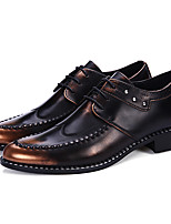 Men's Oxfords Formal Shoes Spring Summer Fall Winter Patent Leather Casual Office & Career Party & Evening Ruby Black Gold 1in-1 3/4in