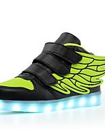 Boys' Shoes Knit Paillette EVA Leatherette Fall Winter Light Up Shoes Comfort Light Soles Sneakers Sequin Magic Tape Hook & Loop Split