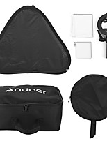 andoer photo studio multifonctionnel 60 * 60cm pliable softbox avec s-type handheld flash speedlite bracket avec montures bowens et sac de