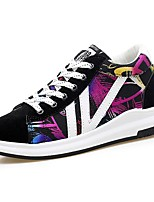 Men's Shoes PU Spring Fall Light Soles Sneakers Lace-up For Casual Black/Red Black/White Rainbow