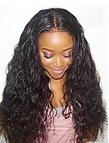 Women Human Hair Lace Wig 180% 150% Density With Baby Hair Loose Wave Wigs Brazilian Hair Dark Brown Black Long Natural Hairline