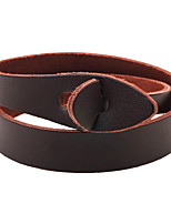 Men's Women's Leather Bracelet Fashion Multi-ways Wear Leather Round Jewelry For Casual Going out