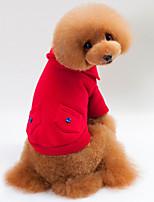 Hund Sweatshirt Hundetøj Afslappet/Hverdag Solid Mørkeblå Grå Rød