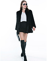Cappotto di pelliccia Da donna Casual Ufficio Semplice Attivo Moda città Autunno Inverno,Leopardata Monocolore Colletto alla coreana