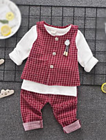 Boys' Houndstooth Sets,Others Fall Clothing Set