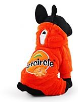 Cane Tuta Abbigliamento per cani Casual Geometrico Arancione Rosso Verde