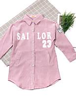 Girls' Cartoon Trench Coat,Cotton Acrylic Spring Fall Long Sleeve