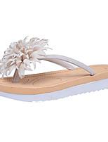 Women's Shoes PU Summer Comfort Slippers & Flip-Flops Flat Heel For Outdoor Blushing Pink Red Beige Black