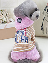 Dog Clothes/Jumpsuit Dog Clothes Casual/Daily Letter & Number Blushing Pink Gray
