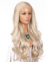 Women Synthetic Wig Lace Front Long Wavy Blonde Natural Hairline Lolita Wig Party Wig Celebrity Wig Halloween Wig Costume Wig