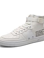 Da uomo Scarpe Tessuto Autunno Comoda Sneakers Cerniera Lacci Per Casual Bianco Nero