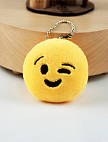 New Arrival Cute Emoji Face with Wink Key Chain Plush Toy Gift Bag Pendant