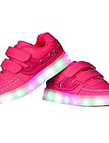 Girls' Shoes TPU Fall Winter Light Up Shoes Sneakers LED For Casual Outdoor Blushing Pink Black White