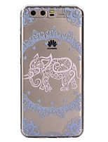 For Case Cover Transparent Pattern Back Cover Case Lace Printing Elephant Soft TPU for Huawei Huawei P10 Lite Huawei P10 Huawei P9 Lite