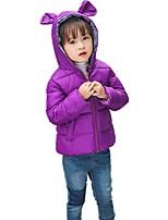 Девочки На пуховой / хлопковой подкладке Полиэстер Однотонный Зима Все сезоны Длинный рукав