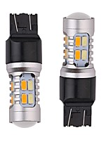 6PCS Aluminium Material 24W 1200LM Dual Colors LED Turn Signal Light 1156 1157 3156 3157 7440 7443