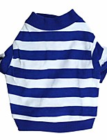 Dog Shirt / T-Shirt Dog Clothes Christmas Stripe Blue