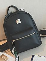 Women Bags All Seasons PU Backpack Zipper for Casual Office & Career Brown Black Blushing Pink
