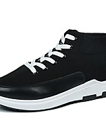 Men's Shoes Fabric Spring Fall Comfort Athletic Shoes Walking Shoes Lace-up For Casual Blue Gray Black