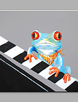 Hand-Painted Animal Square,Modern One Panel Canvas Oil Painting For Home Decoration
