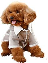 Cane Cappottini Abbigliamento per cani Casual Formale Grigio Marrone