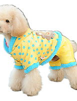 Dog Clothes/Jumpsuit Dog Clothes Casual/Daily Cartoon Blushing Pink Yellow