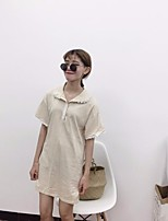 Women's Casual/Daily Simple Summer Fall T-shirt,Solid Turtleneck Short Sleeves Others