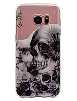 For Case Cover IMD Transparent Pattern Back Cover Case Flower Skull Soft TPU for Samsung Galaxy S8 Plus S8 S7 edge S7 S6 edge S6 S5