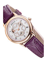 Women's Fashion Watch Quartz Genuine Leather Band White Red Purple