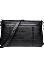 Women Bags All Seasons PU Shoulder Bag Zipper for Casual Office & Career Blue Black Purple Wine