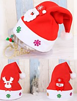 3PC Kid Cheer Christmas Hat Children adult Santa Claus Reindeer Snowman Party Cute Cap wedding decoration beanie