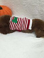 Hund Pullover Hundekleidung Lässig/Alltäglich Britisch Rot