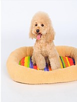Cat Dog Bed Pet Mats & Pads Rainbow Keep Warm Soft Durable Stripe