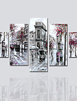 Canvas Print Five Panels Canvas Vertical Panoramic Print Wall Decor For Home Decoration